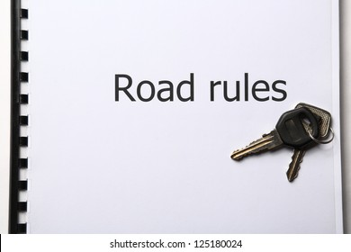 Road rules register with car keys