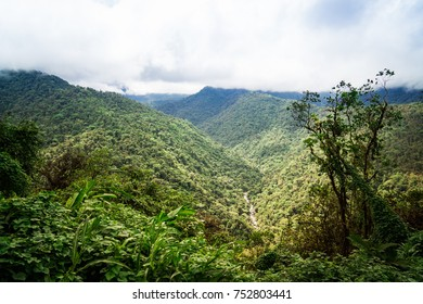 The road from San Jose to Guapiles is leading through the Braulio Carrillo National Park, which has very high mountains and deep valleys. The road was breathtaking for the car and so are the views.