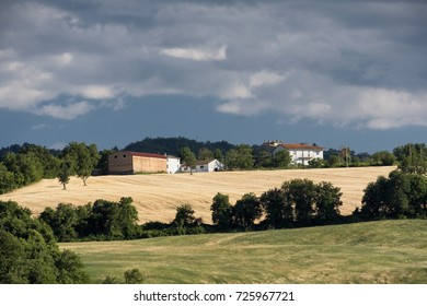 The road to San Leo (Forli Cesena, Emilia Romagna, italy).  Country landscape at summer