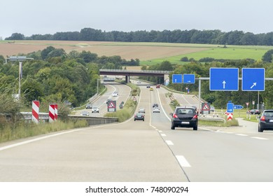road scenery on a highway in Germany at summer time