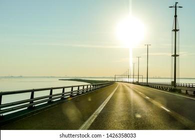 road to sea, in Norway Scandinavia North Europe
