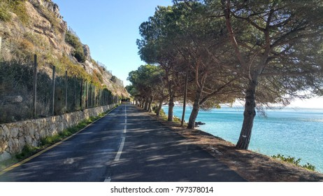 Road to Setubal, Portugal, along the beach and the cliffs