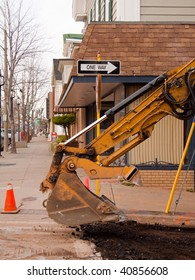 Road and sidewalk repair in town