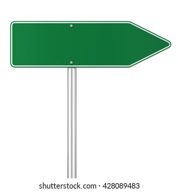Road sign. 3d illustration isolated on white background