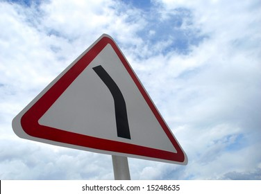 road sign against sky background