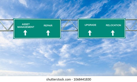 road sign to asset management