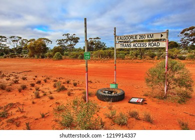 Road sign between Kalgoorlie and Trans Access Road
