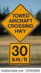 road sign in British Columbia showing float plane crossings