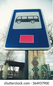road sign Bus