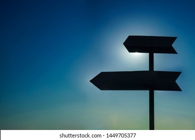 Road sign and cloud gap light.Road sign and cloud gap light. blue sky on background.