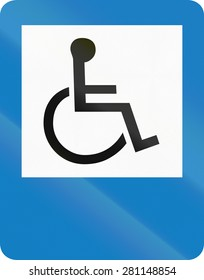 A Road sign in Colombia: Disabled