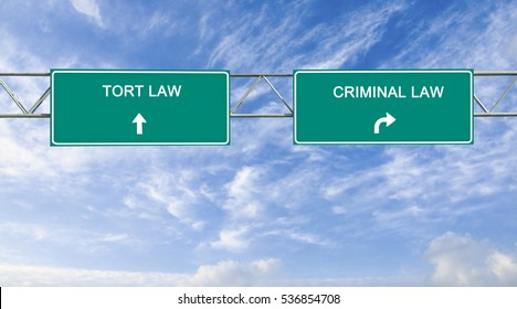 Road sign to criminal and tort law