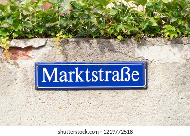 Road sign with the german word Market Street