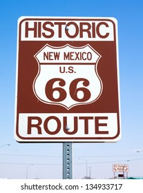"""Road sign  """"Historic route 66, New Mexico US"""""""