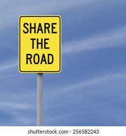 A road sign indicating Share the Road