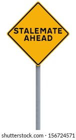 A road sign indicating Stalemate Ahead