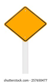 road sign isolate on white background.