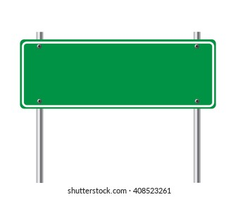 Road sign isolated on white background.