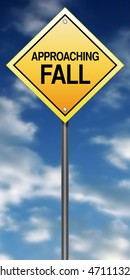 "Road Sign Metaphor with ""Approaching Fall"""
