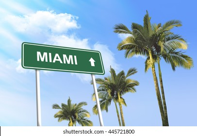 Road sign - Miami