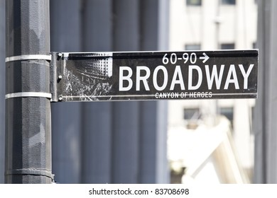 Road sign of New Yorks  Broadway