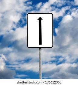 road sign over sky background