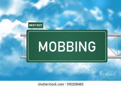 Road Sign Showing Mobbing