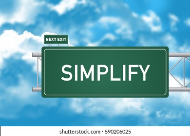 Road Sign Showing Simplify