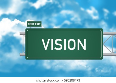 Road Sign Showing Vision