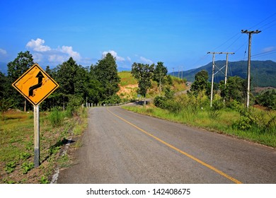Road sign to travel destination
