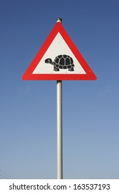 Road Sign, Turtle crossing warning, South Africa