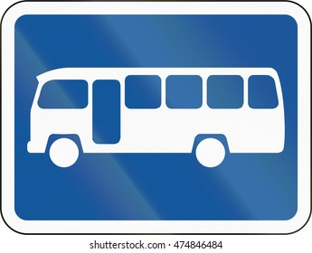 Road sign used in the African country of Botswana - The primary sign applies to midi-buses.