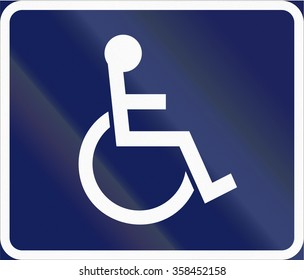 Road sign used in Sweden - Disabled persons.