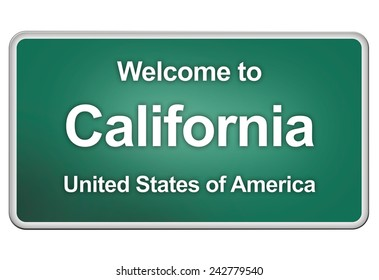 road sign: Welcome to California