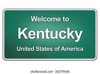 road sign: Welcome to Kentucky