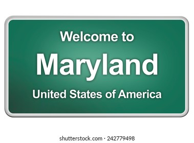 road sign: Welcome to Maryland