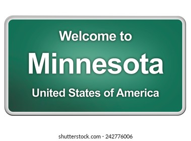 road sign: Welcome to Minnesota