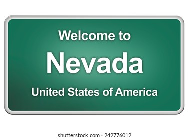road sign: Welcome to Nevada