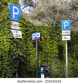 road signs with nature background