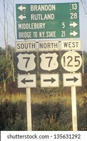 Road signs in New England