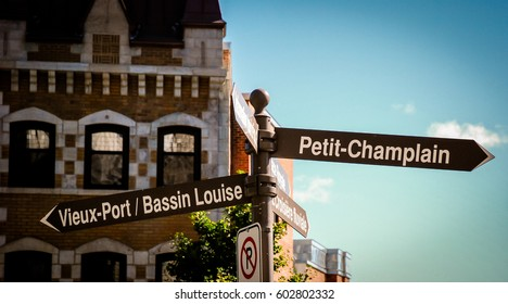 road signs in quebec city canada