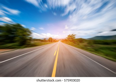 Road And Sky Radial Blur