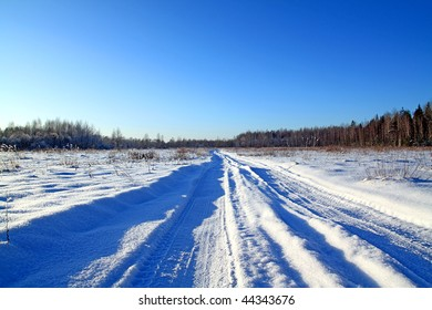 road in snow