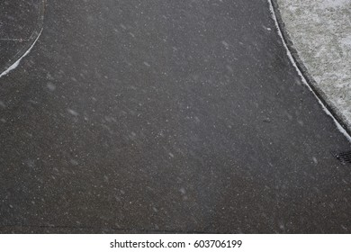 Road with snow in winter as background