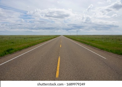 Road in Southern Alberta in Canada