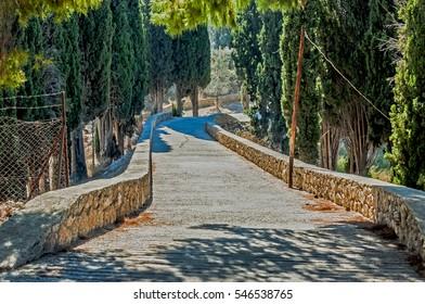 Road in Spetses, Greece