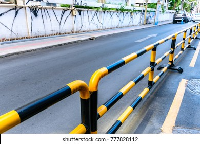Road with steel barrier