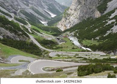 road to Stelvio pass from Bormio