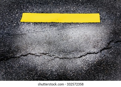 road surface crack is dangerous for background