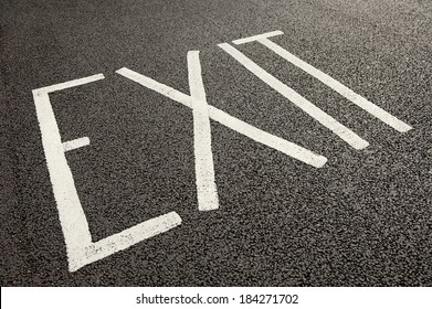 Road Surface Exit Sign